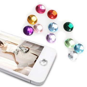 Rhinestone home button iPhone iPod iPad