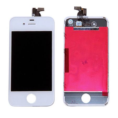 Original Glass Digitizer & LCD Screen & Full Frame for iPhone 4S White