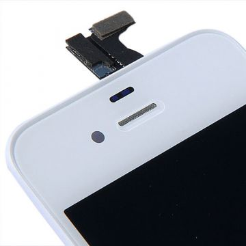Original Glass Digitizer, LCD Screen and Full Frame for iPhone 4S White