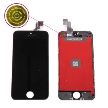 First Quality Glass digitizer and LCD Retina Screen for iPhone 5C Black