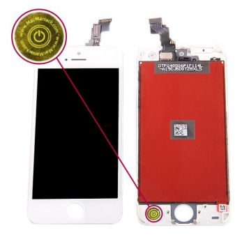 Second Quality Glass digitizer and LCD Retina Screen for iPhone 5C White