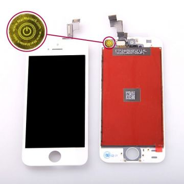 2nd Quality Glass digitizer and LCD Retina Screen for iPhone 5S white