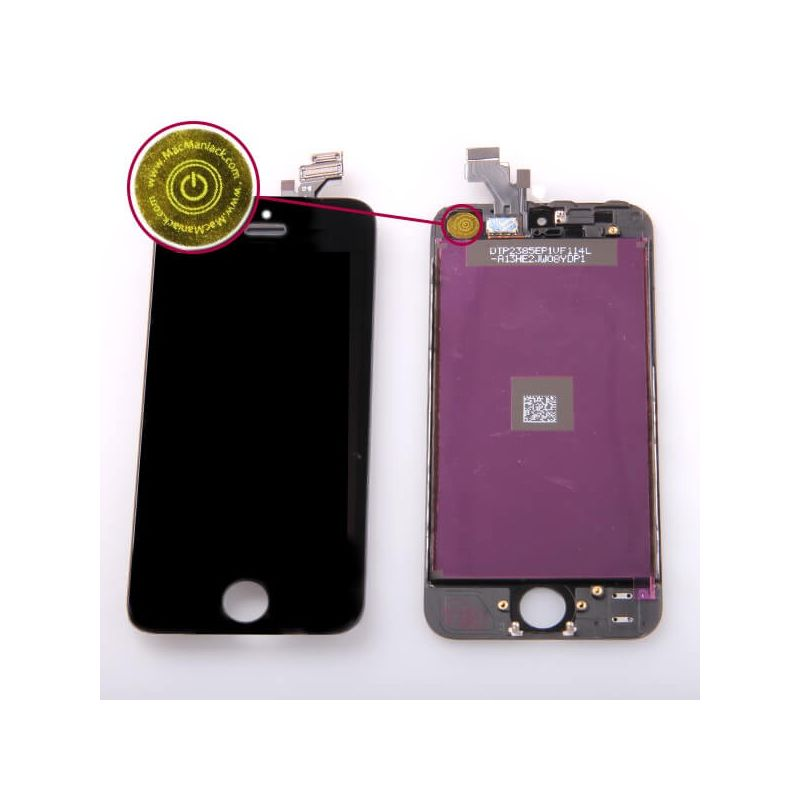 1st Quality Glass digitizer & LCD Retina Screen & Full Frame for iPhone 5 Black