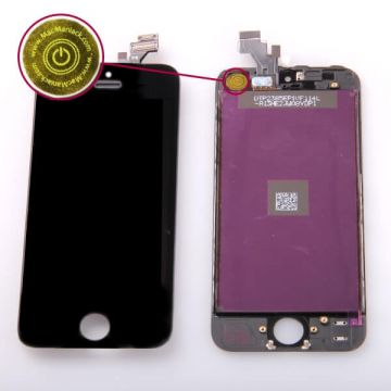 2nd Quality Glass digitizer & LCD Retina Screen & Full Frame for iPhone 5 Black