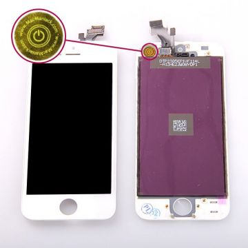 2nd Quality Glass digitizer, LCD Retina Screen and Full Frame for iPhone 5 White