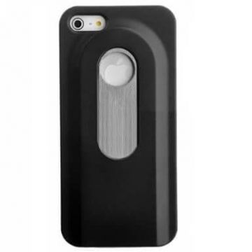 iPhone 5/5S/SE flesopener case zwart - iphone hoesjes